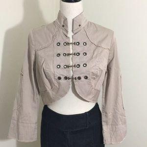 XCVI Jacket / Bolero Stretch Cotton Cropped